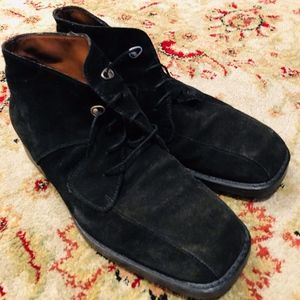 Authentic Italian Black Suede Boots